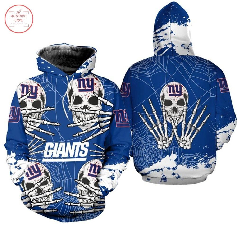 NFL New York Giants Skull Halloween Hoodie
