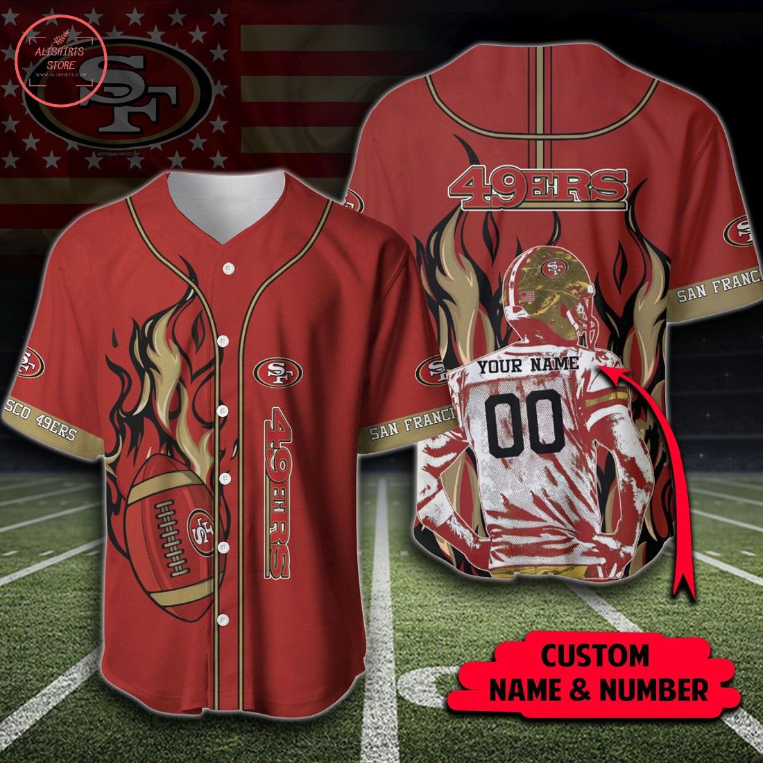 NFL San Francisco 49ers Personalized Baseball Jersey