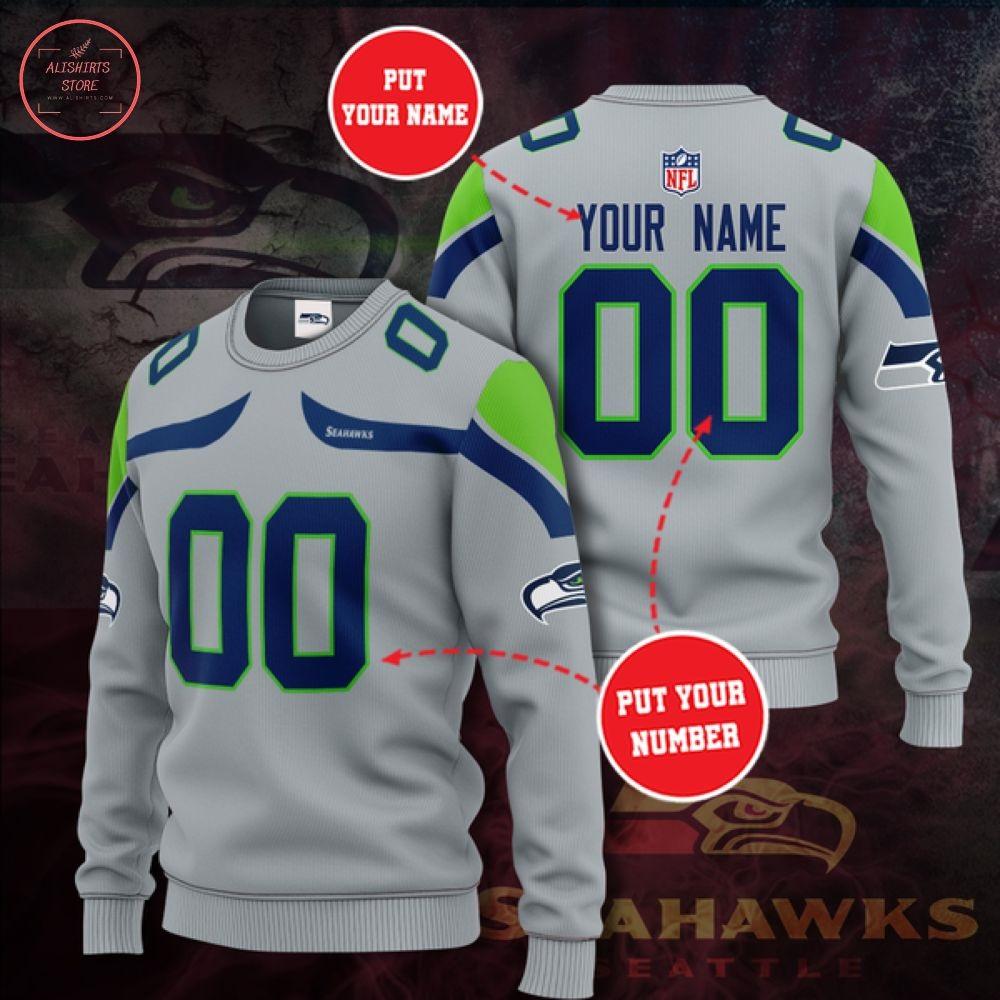 NFL Seattle Seahawks Personalized Sweater