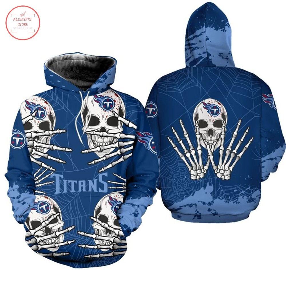 NFL Tennessee Titans Skull Halloween Hoodie