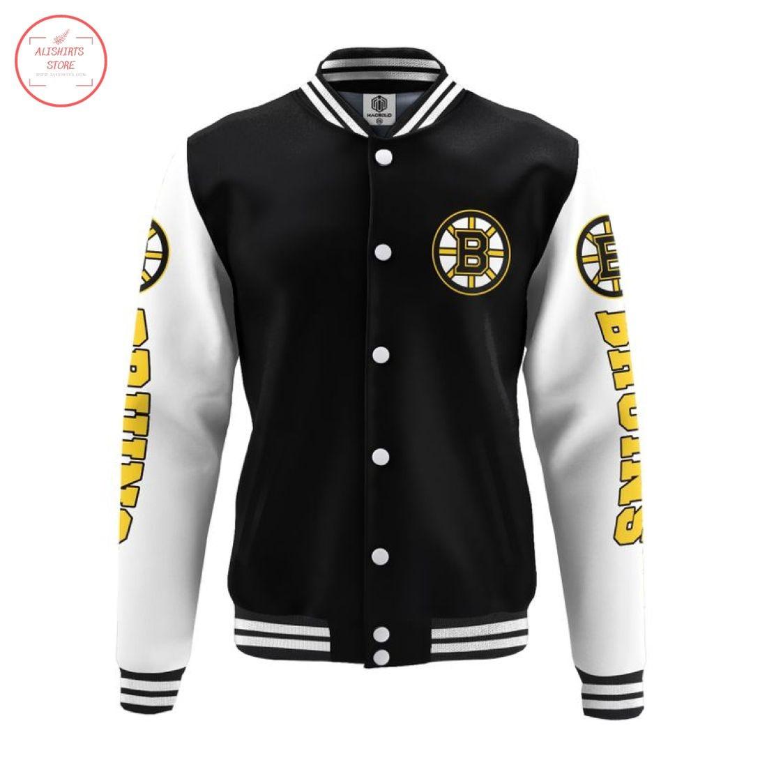 NHL Boston Bruins Baseball Jacket