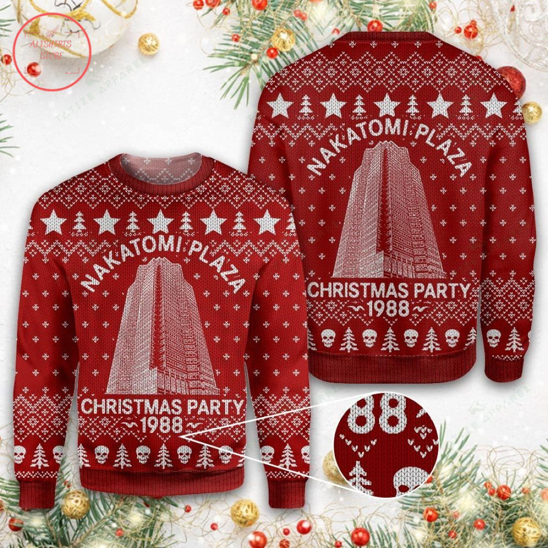 Nakatomi Plaza 1988 Christmas Sweater