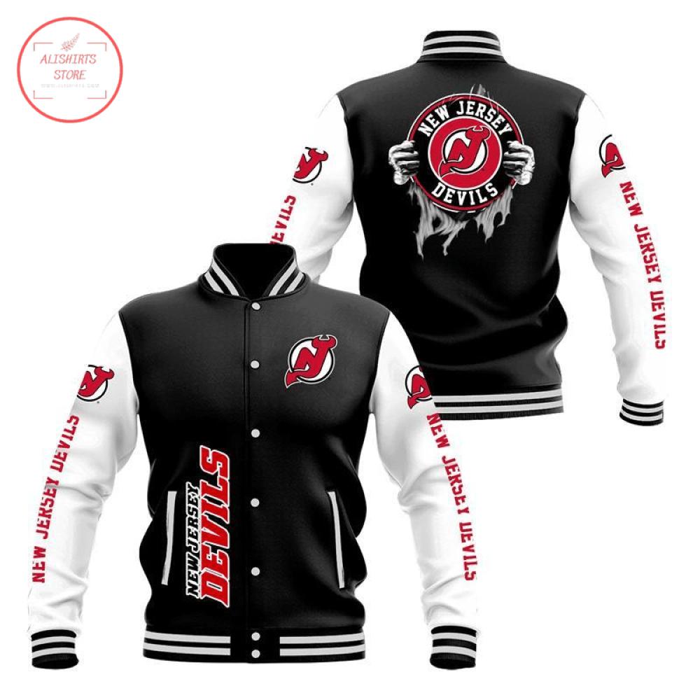 New Jersey Devils 3D Baseball Jacket