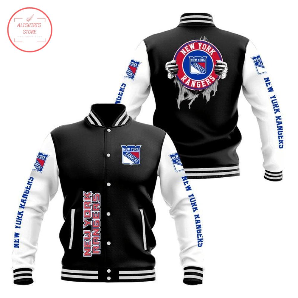 New York Rangers 3D Baseball Jacket
