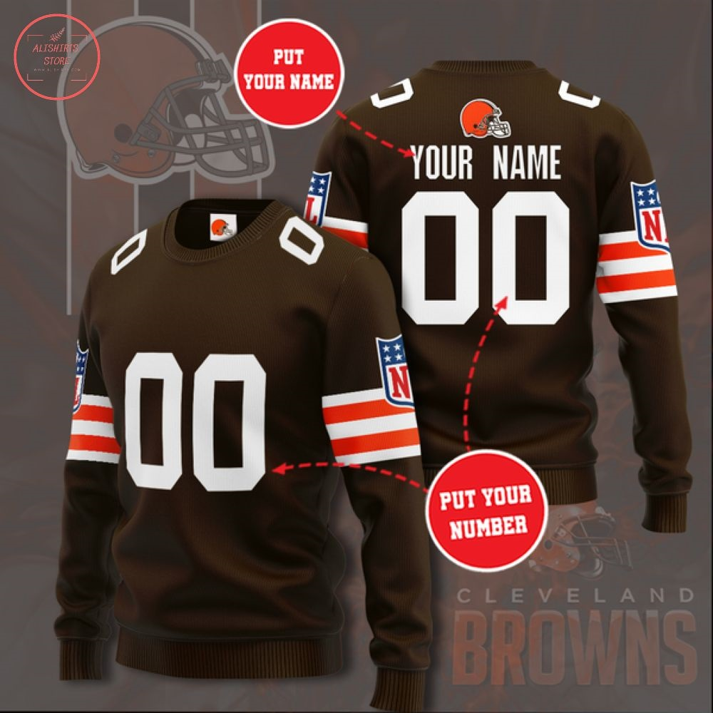 Nfl Cleveland Browns Personalized Sweater