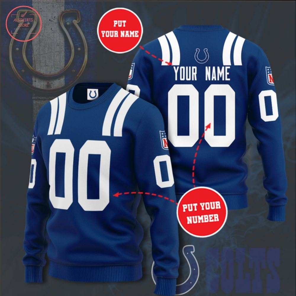 Nfl Indianapolis Colts Personalized Sweater