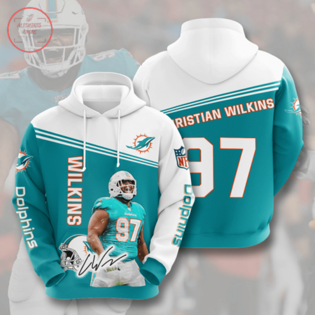 Nfl Miami Dolphins Personalized Hoodie 3D