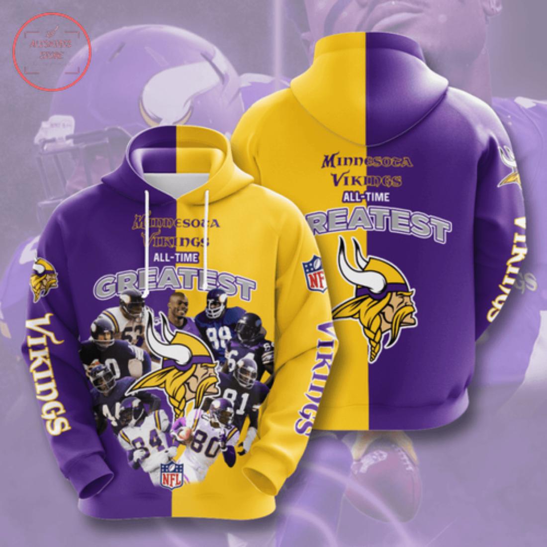 Nfl Minnesota Vikings Personalized Hoodie 3D
