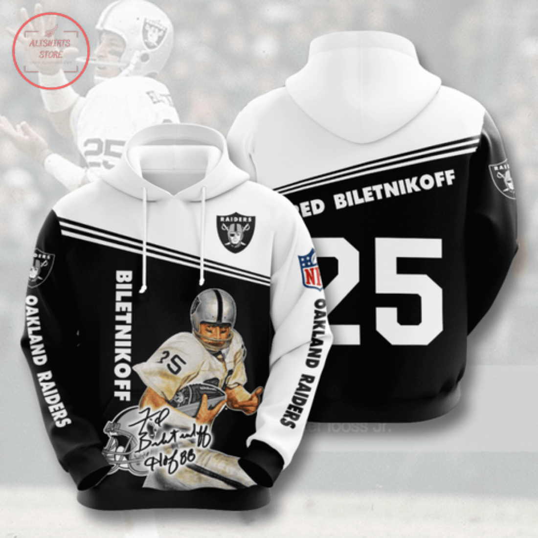 Nfl Oakland Raiders Personalized Hoodie 3D
