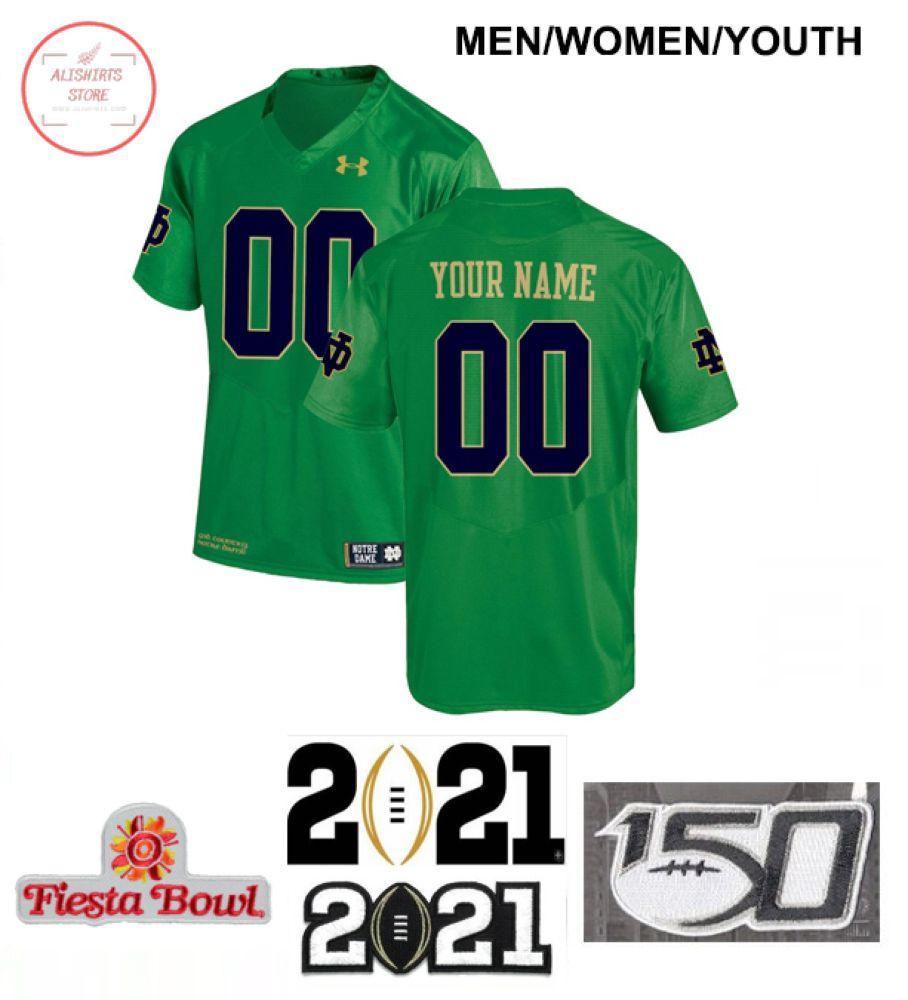Notre Dame Fighting Irish Custom Green