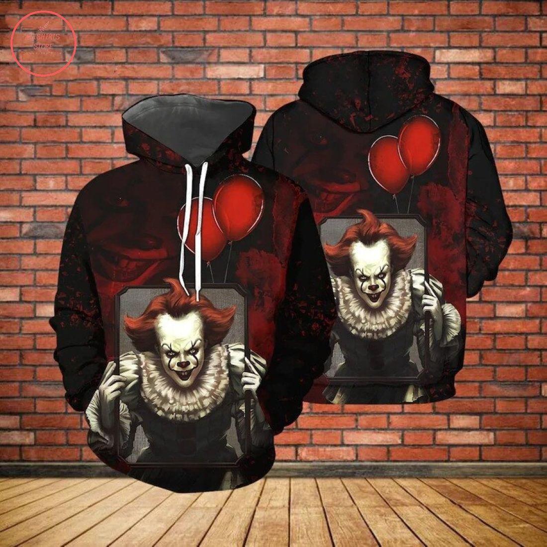 Pennywise Horror Movie Halloween 3D Hoodie
