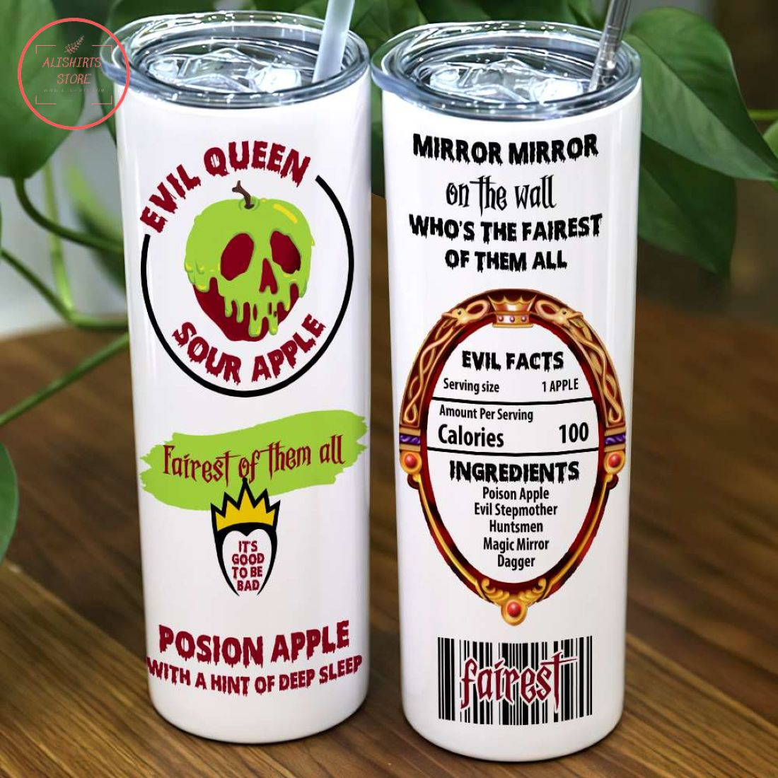 Personalized Evil Queen Sour Apple Halloween Tumbler