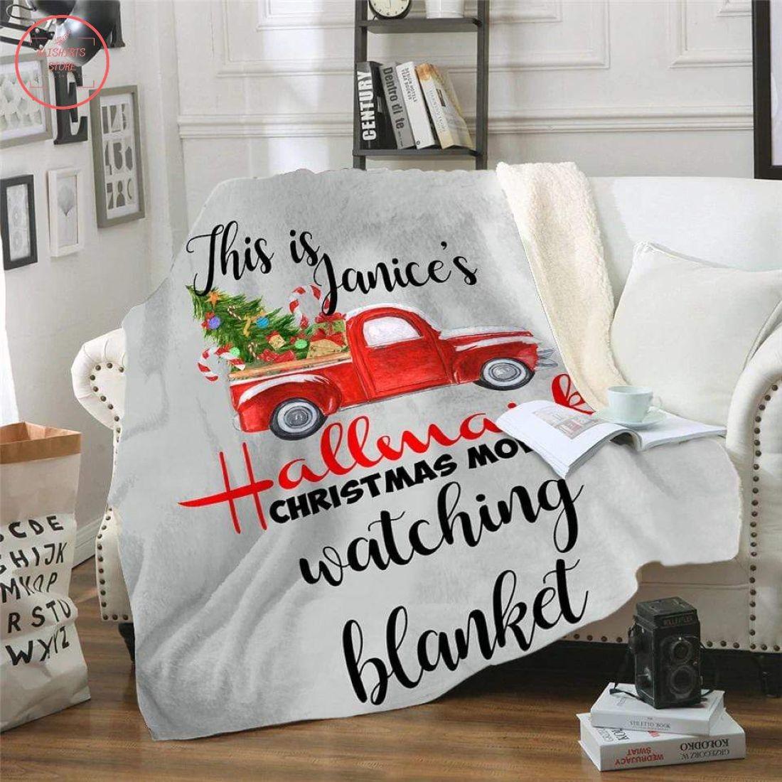 Personalized Hallmark Christmas Movie Watching Blanket