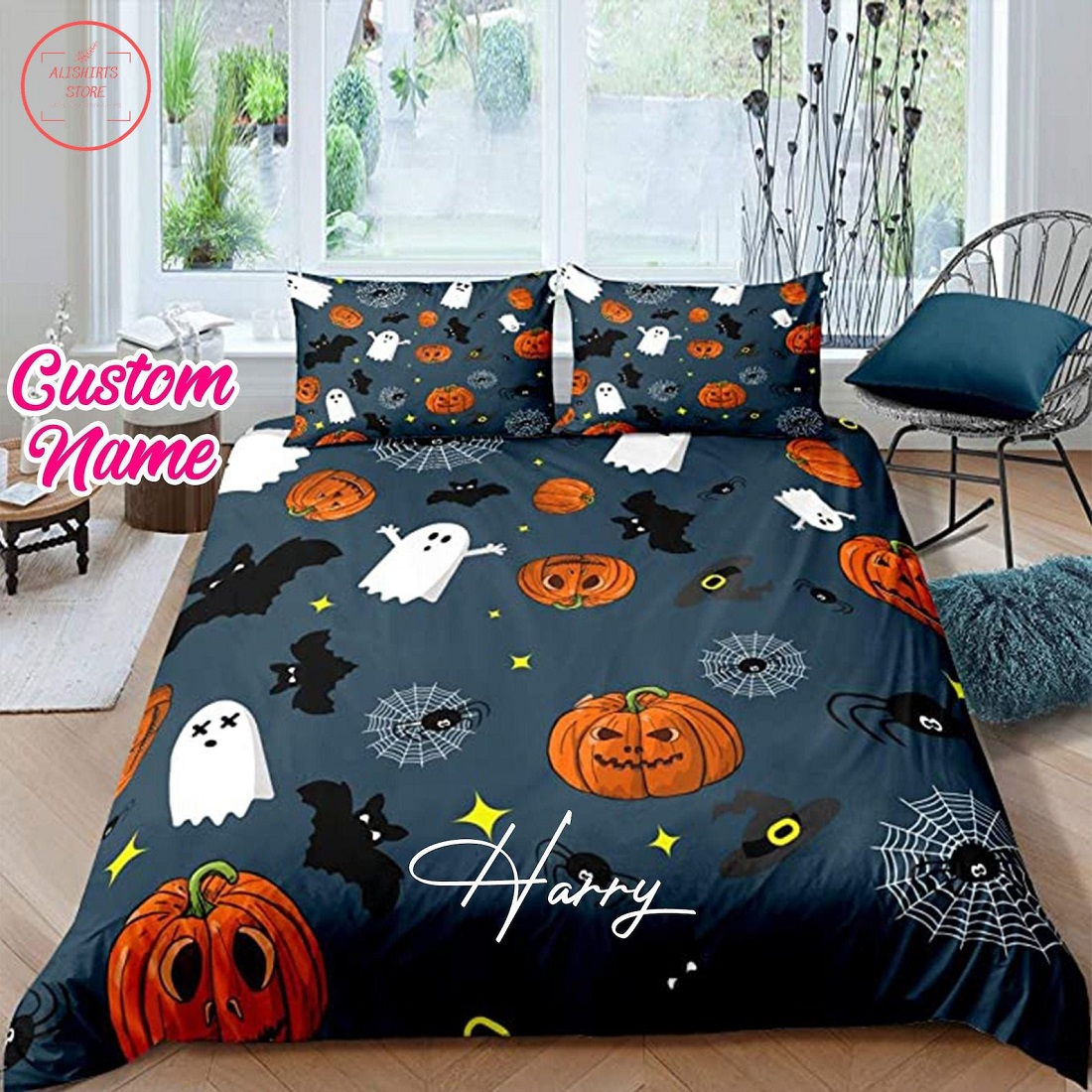 Personalized Halloween Perfect Idea Gifts Quilt Bedding Sets