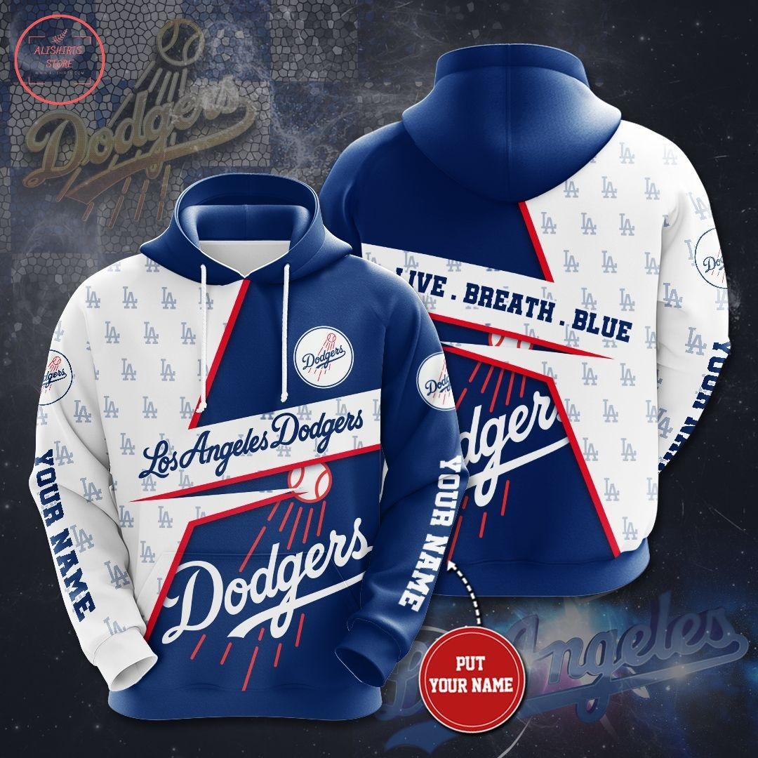 Personalized MLB Los Angeles Dodgers Hoodie