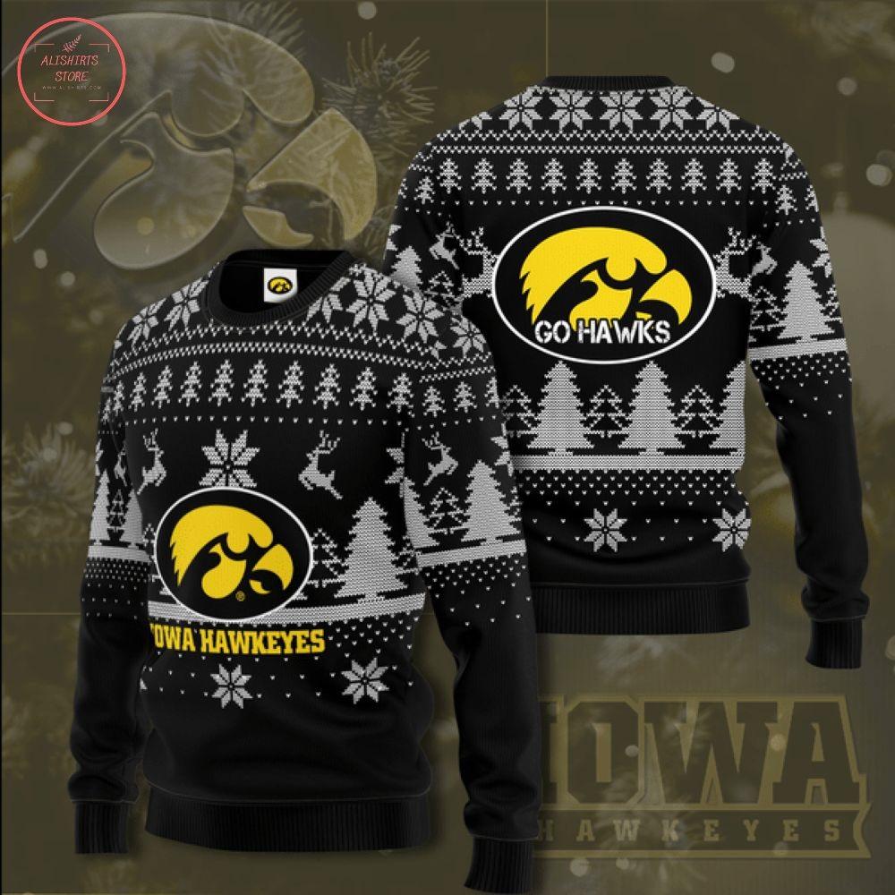 Personalized NCAA Iowa Hawkeyes Christmas Sweater