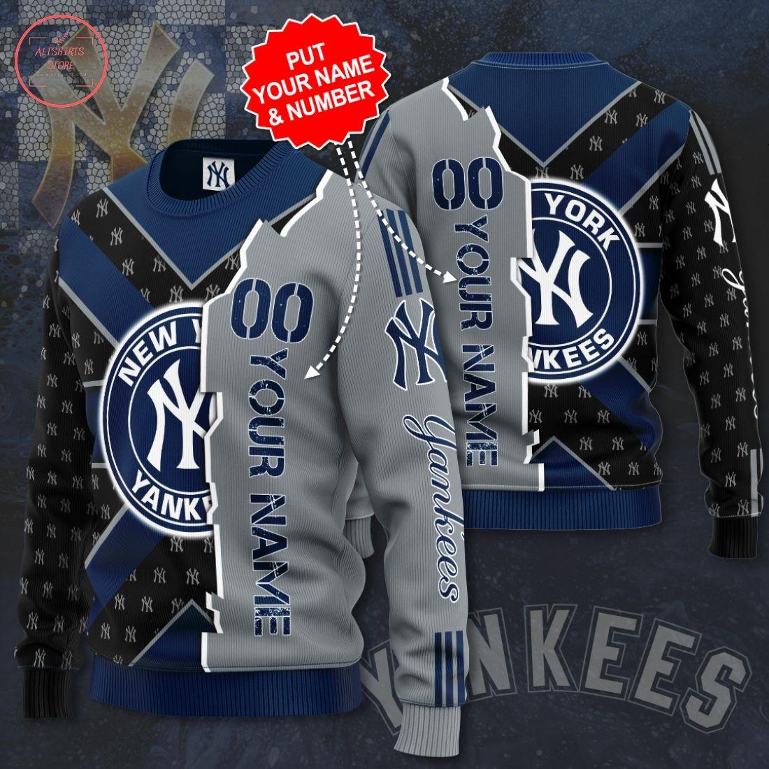 Personalized New York Yankees 3D Sweatshirt