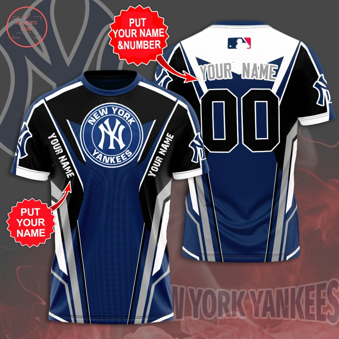 Personalized New York Yankees 3D T-Shirt