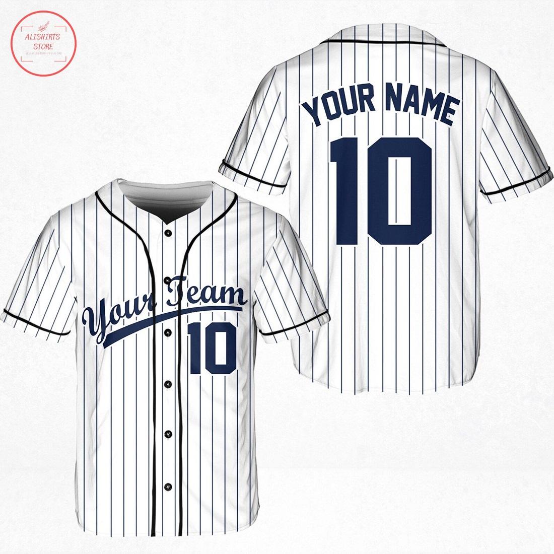 Personalized Plaid New York Football Team Baseball Jersey
