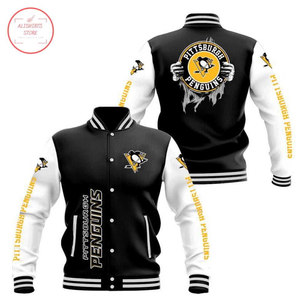 Pittsburgh Penguins 3D Baseball Jacket