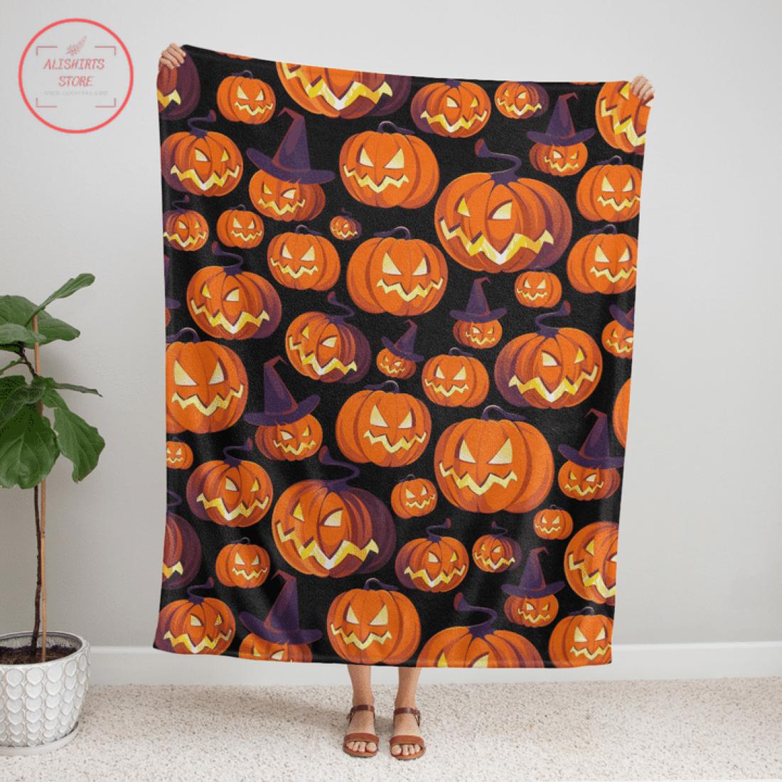 Pumpkin Halloween Scary Blanket