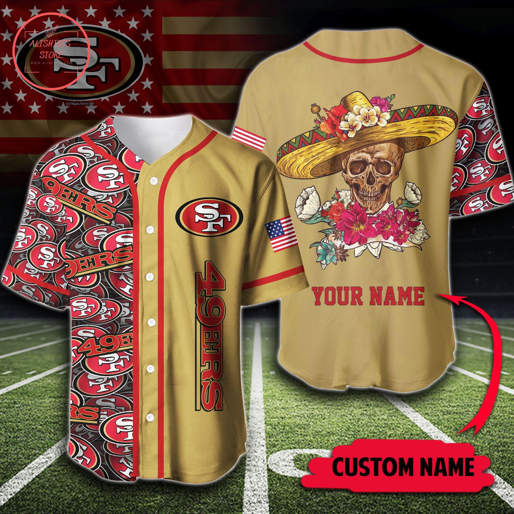San Francisco 49ers Perseonalized Baseball Jersey