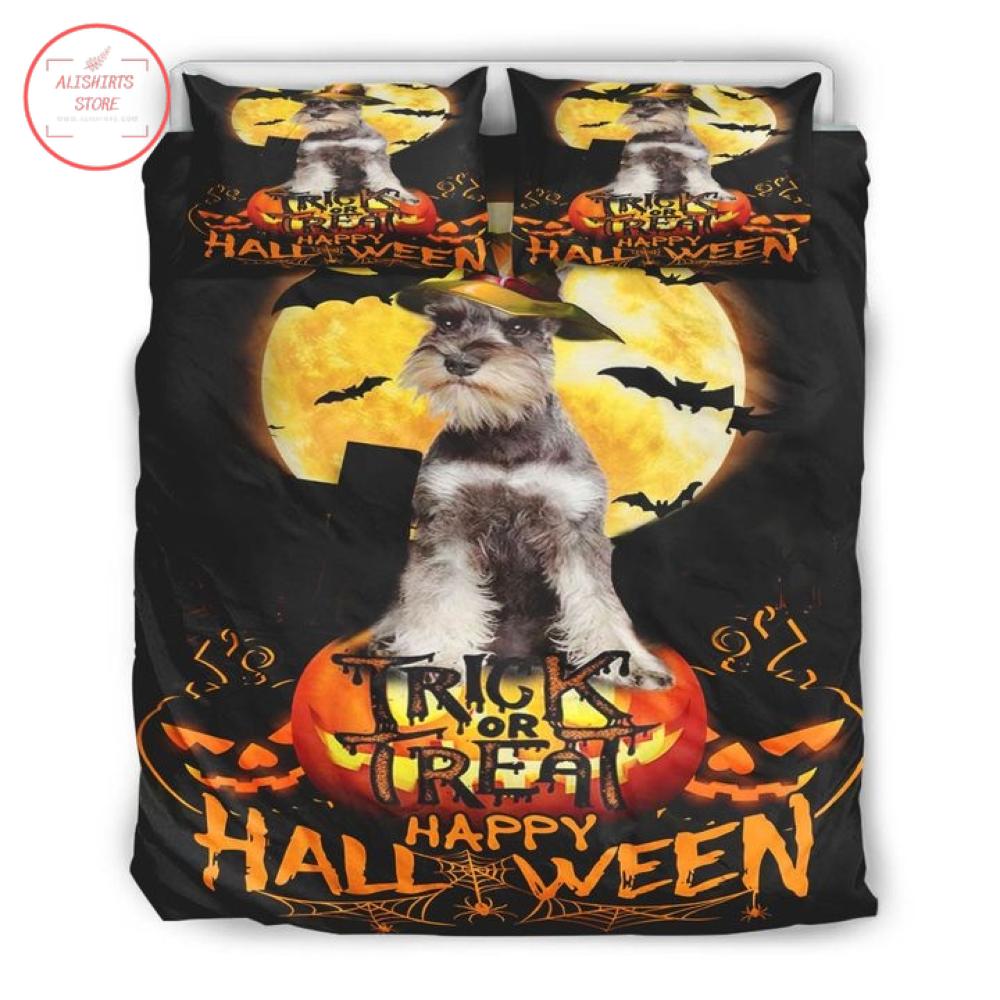 Schnauzer Happy Halloween Trick or Treat Blanket