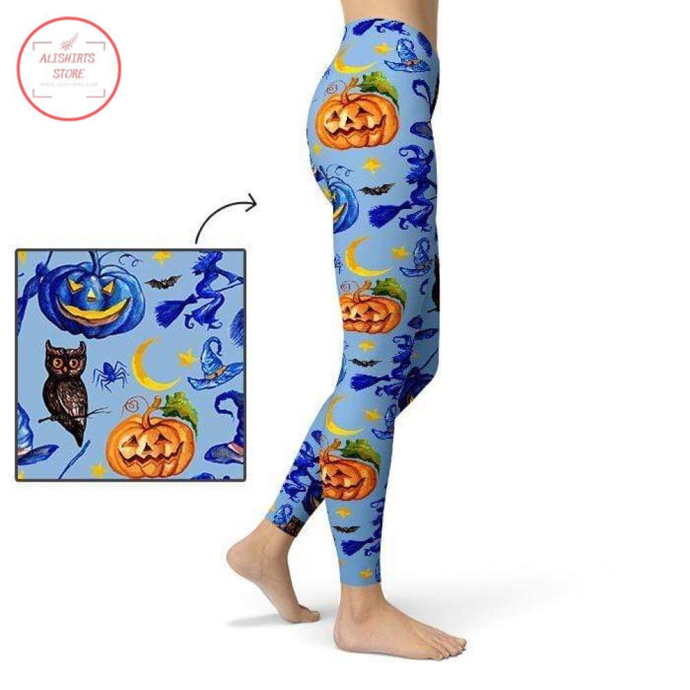 Spooky pumpkin Halloween Leggings