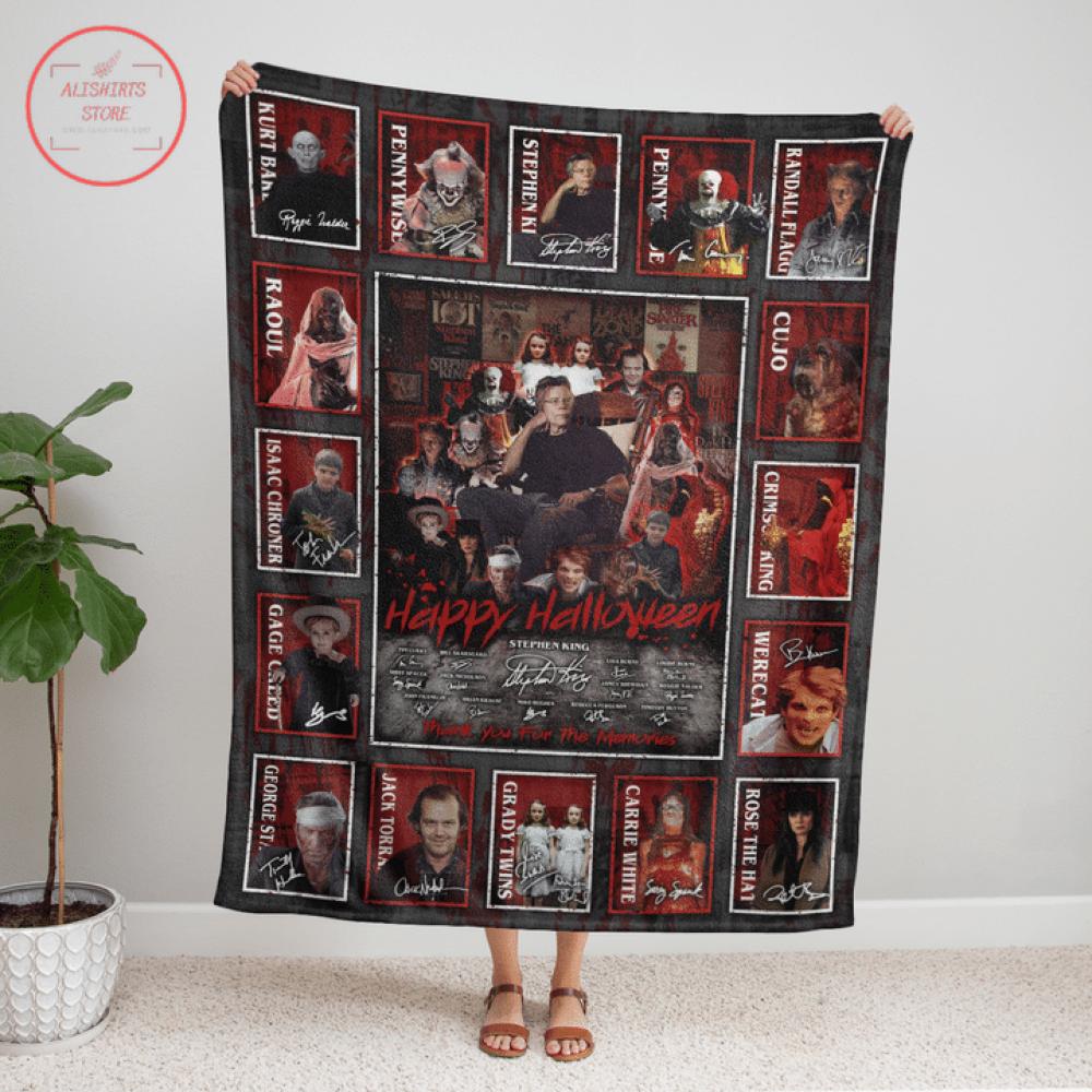 Stephen King Horror Movies Characters Halloween Blanket