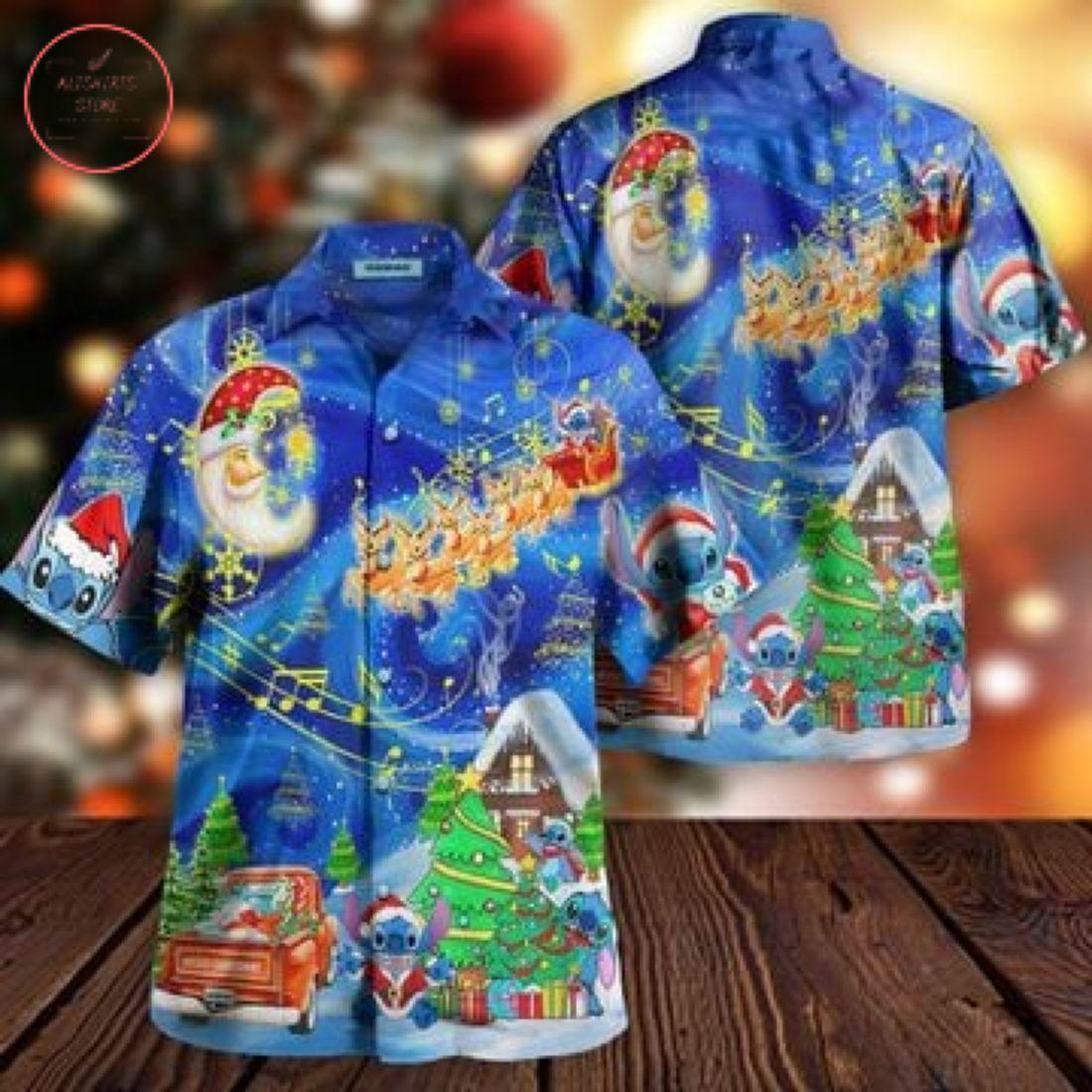 Stitch in Amazing Christmas Hawaiian Shirt