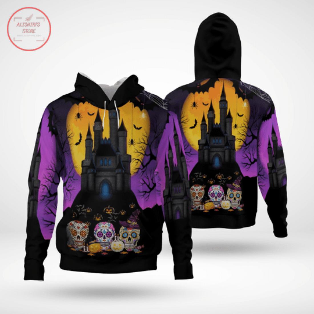 Sugar Skull Halloween Hoodie 3D