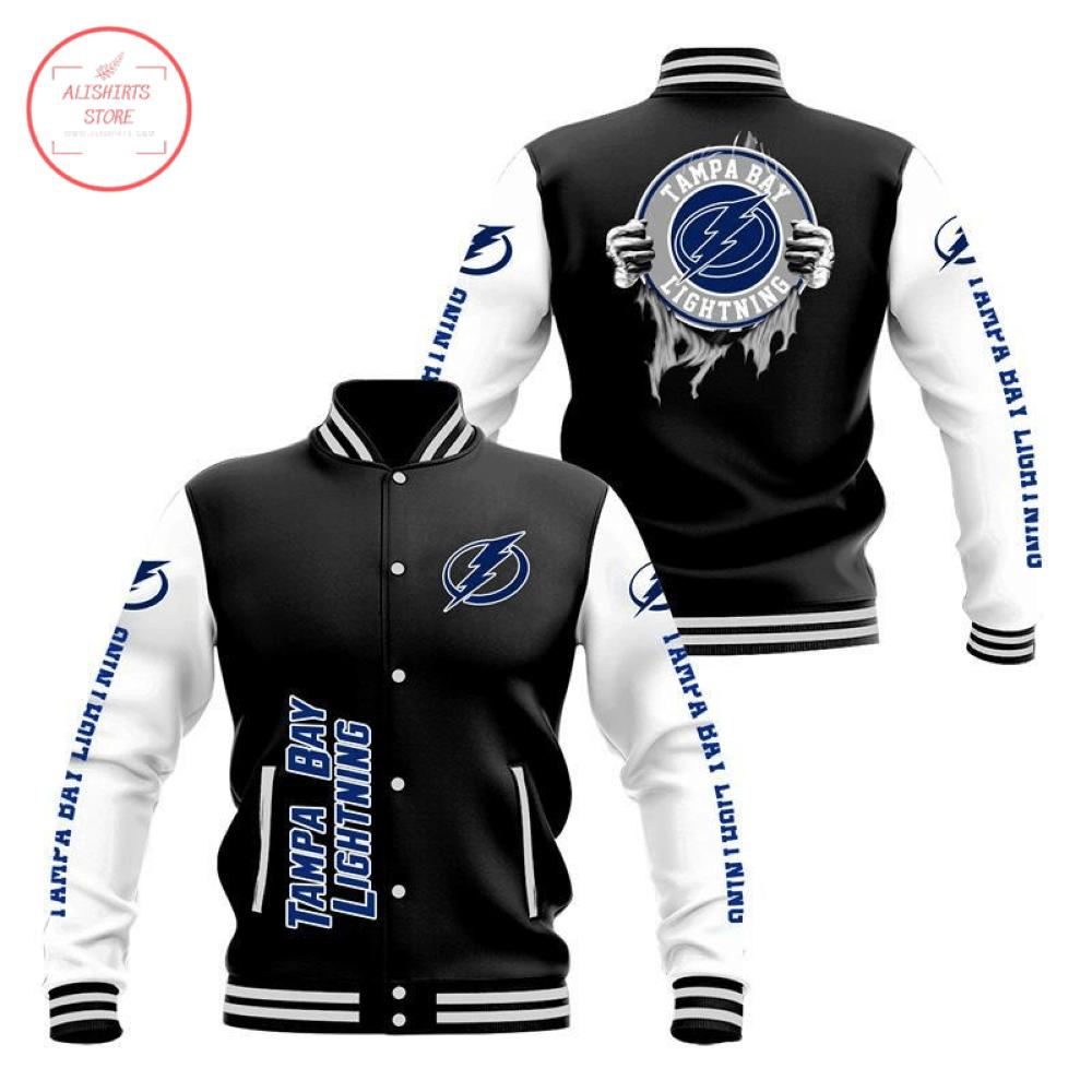 Tampa Bay Lightning Baseball 3D Baseball Jacket