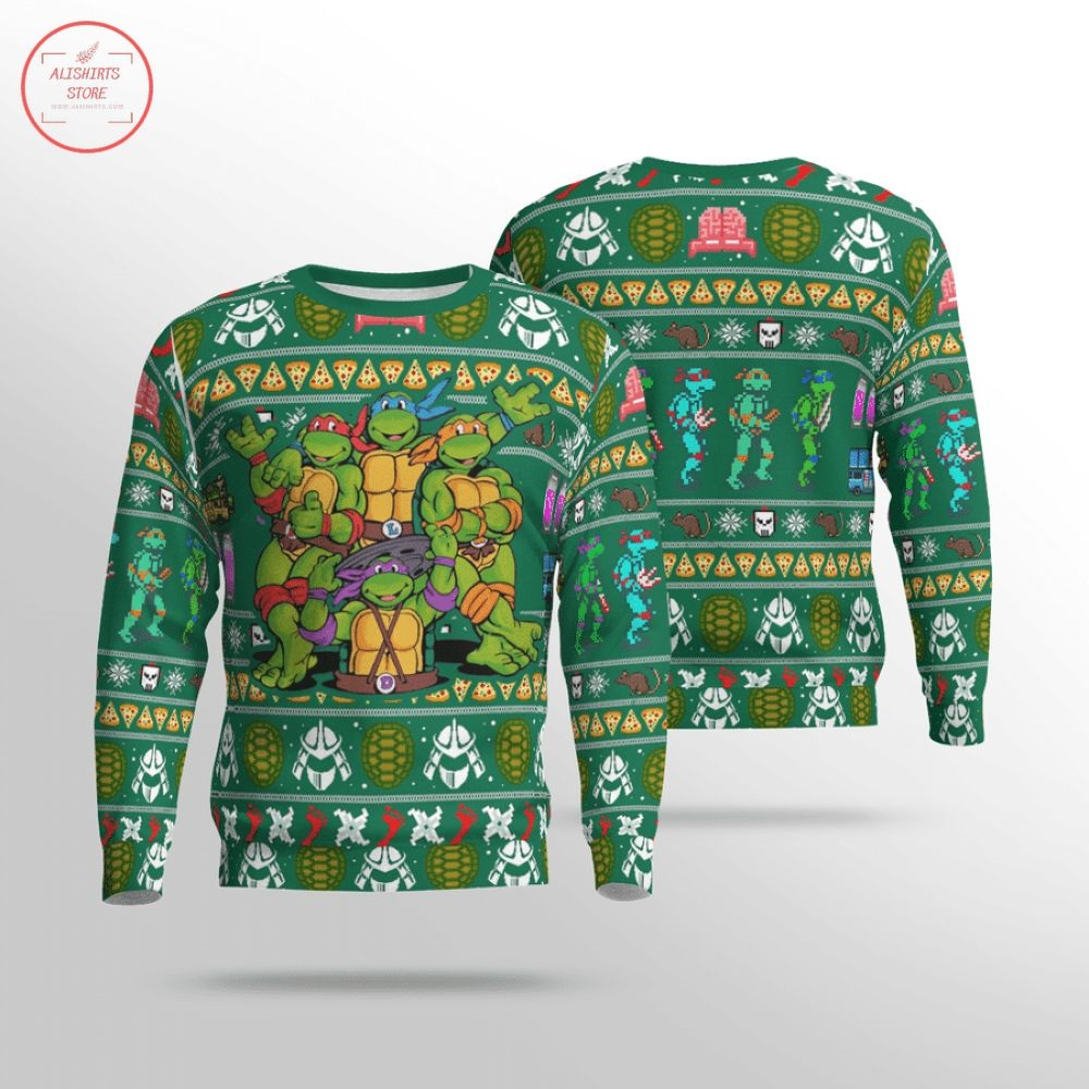 Teenage Mutant Ninja Turtles Heroes Ugly Christmas Sweater