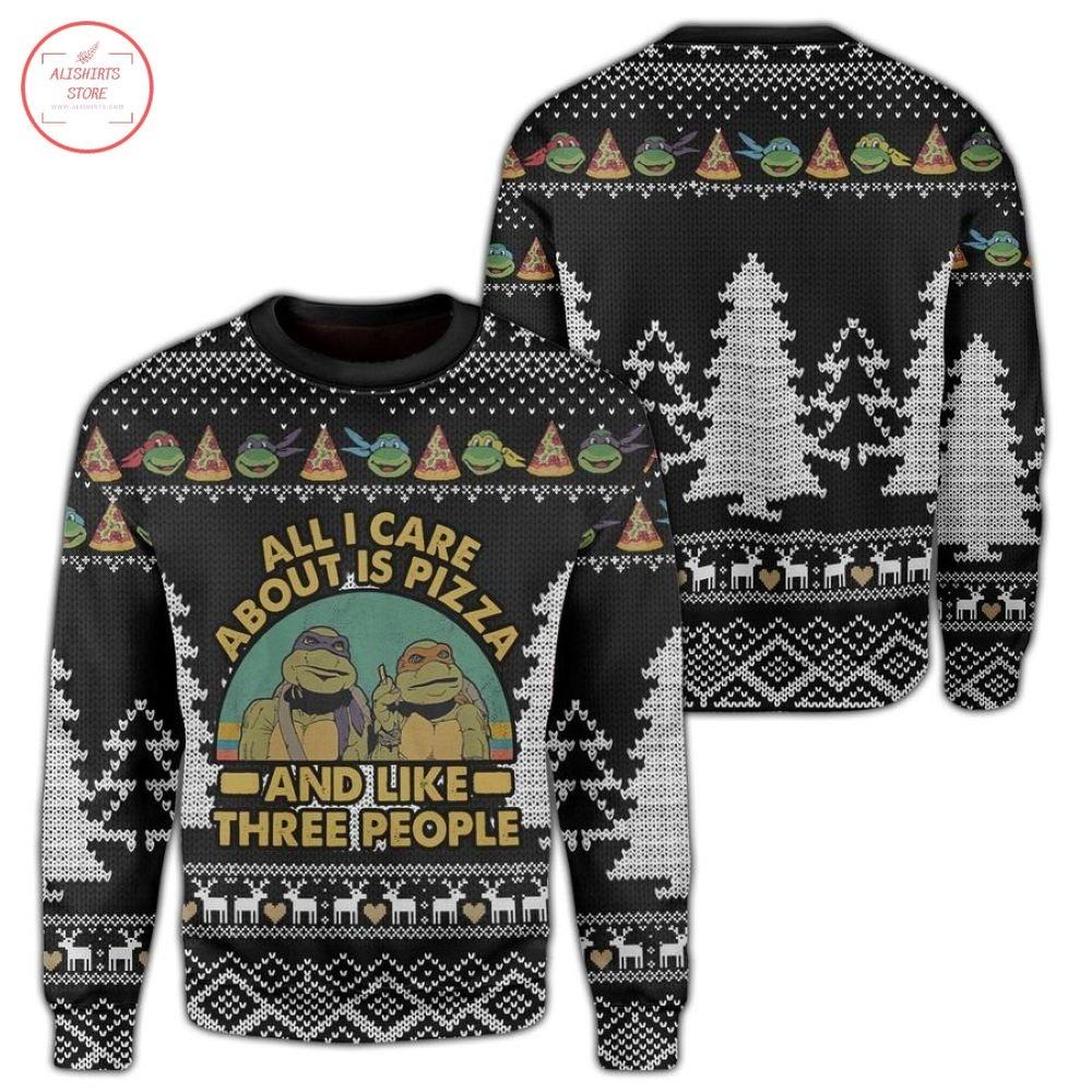 Teenage Mutant Ninja Turtles Pizza Christmas Ugly Sweater