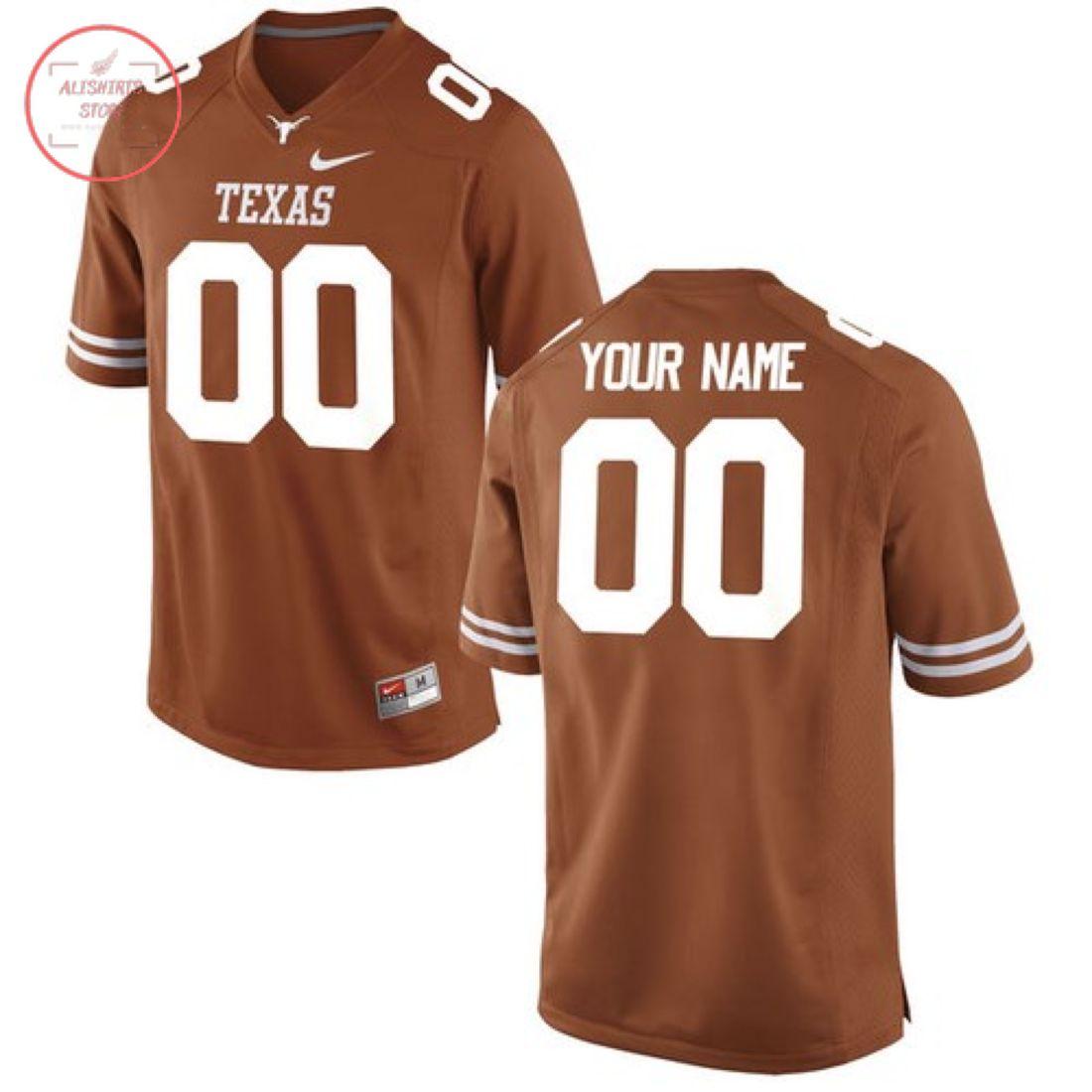 Texas Longhorns Custom Orange Football Jersey