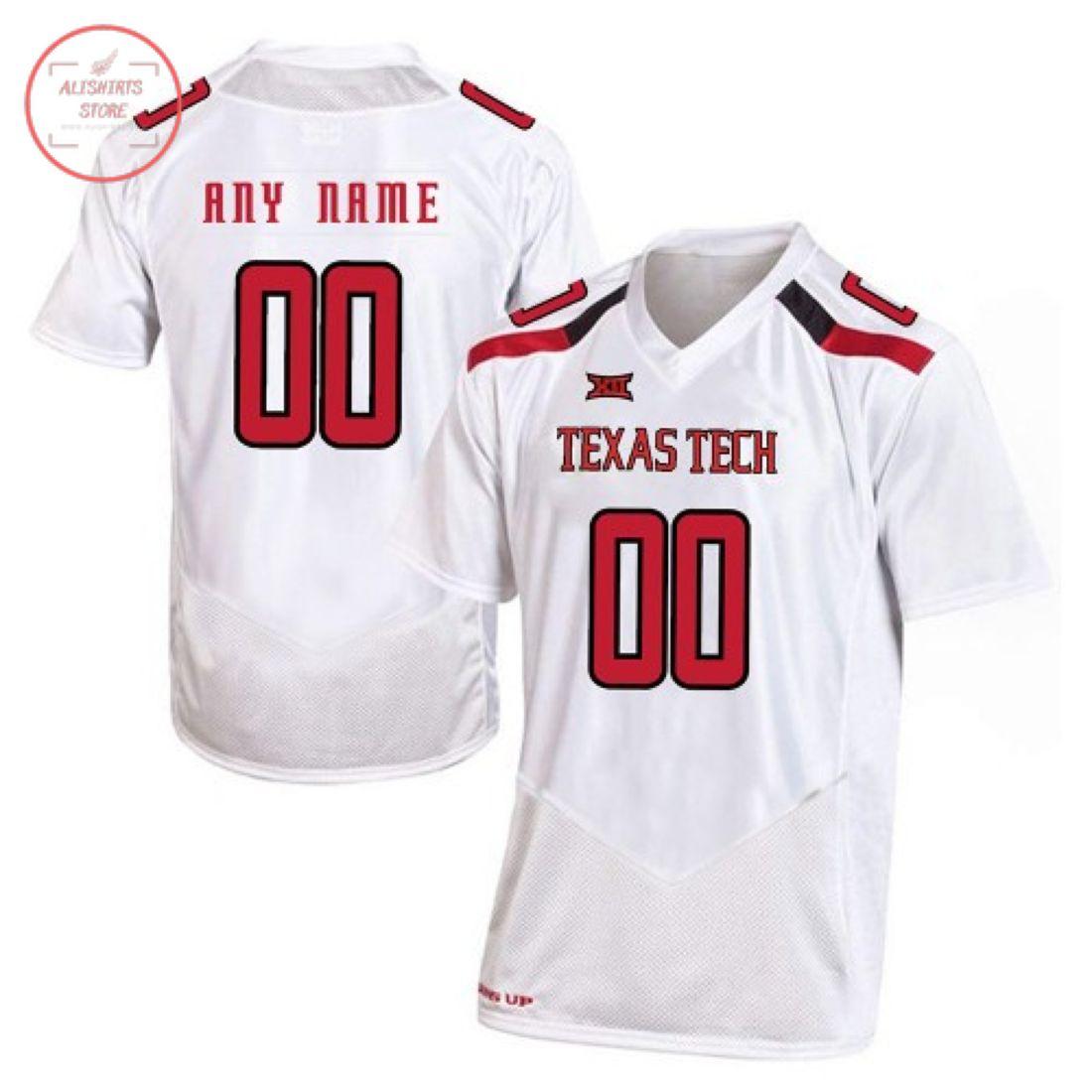 Texas Tech Red Raiders Custom Football Jersey
