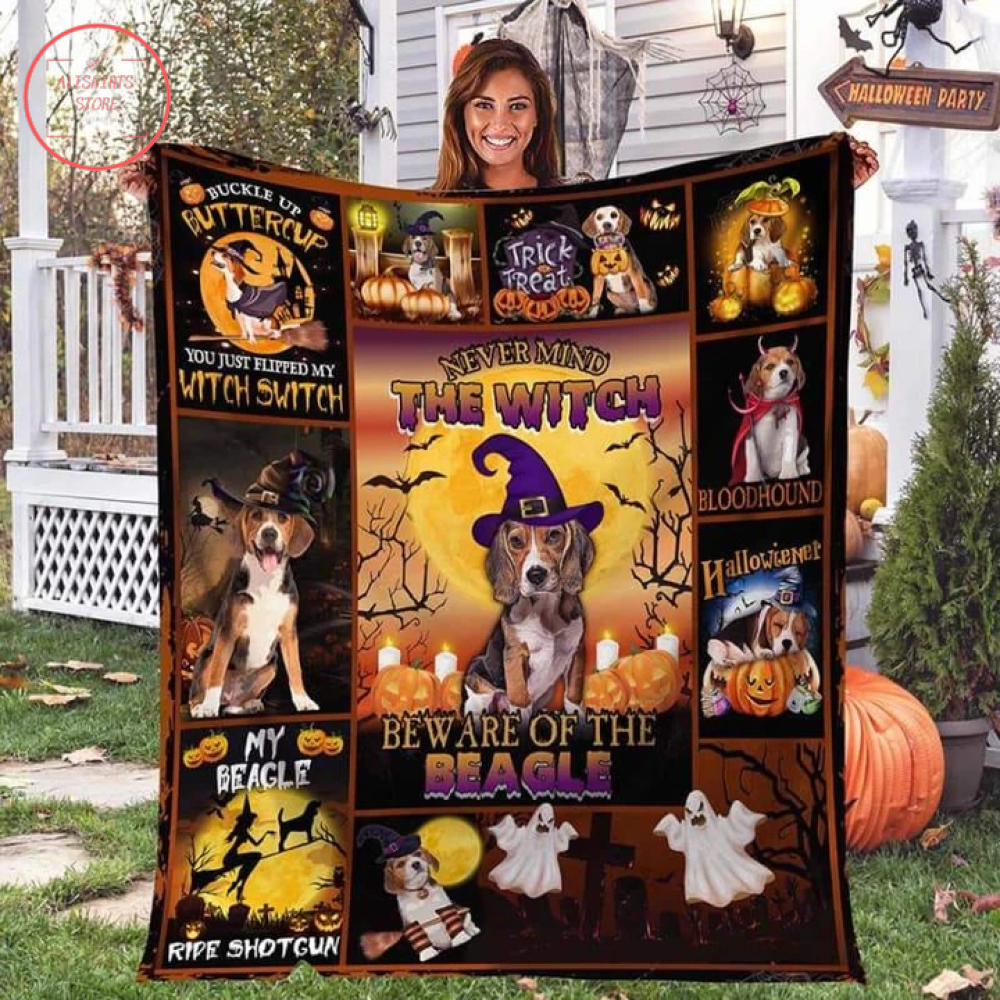 The Beagle Witch Halloween Blanket