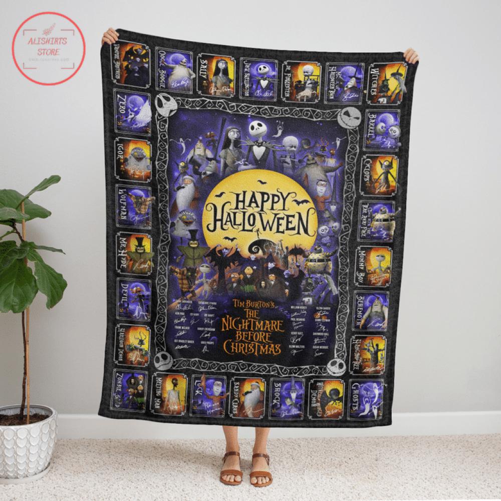 The Nightmare Before Christmas Halloween Blanket