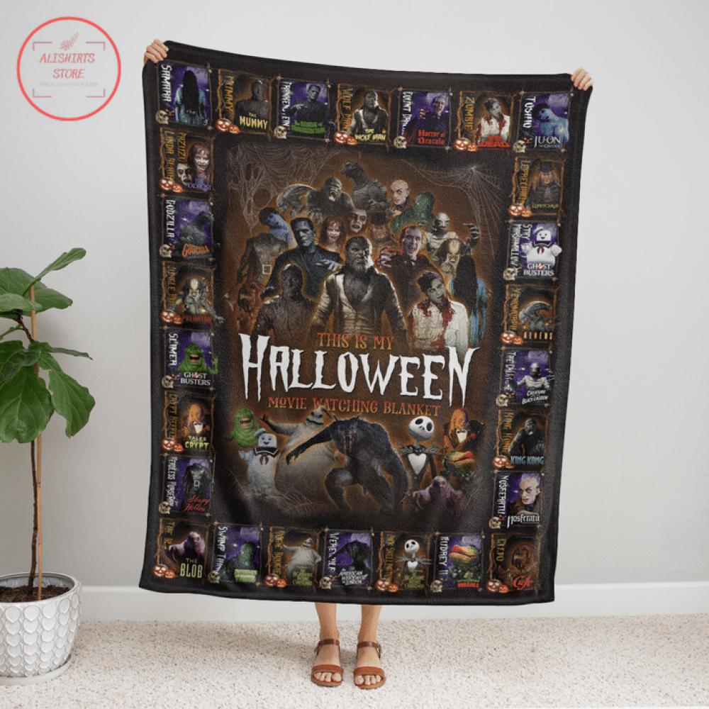 This is My Halloween Movie Watching Halloween Blanket