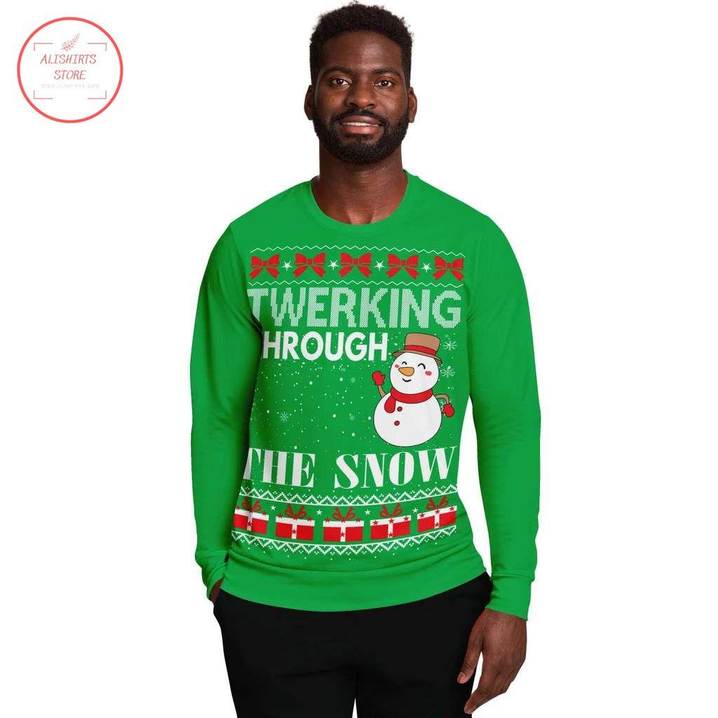 Twerking Through Christmas ugly Sweater