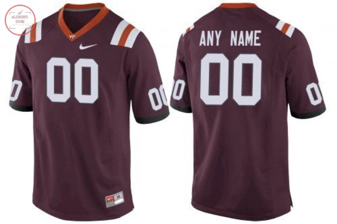 Virginia Tech Hokies Custom Name Number Football Jersey