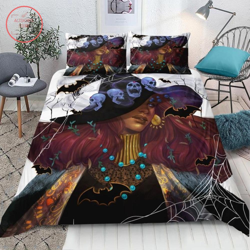 Wica Black Witch in Halloween Darkness Blanket