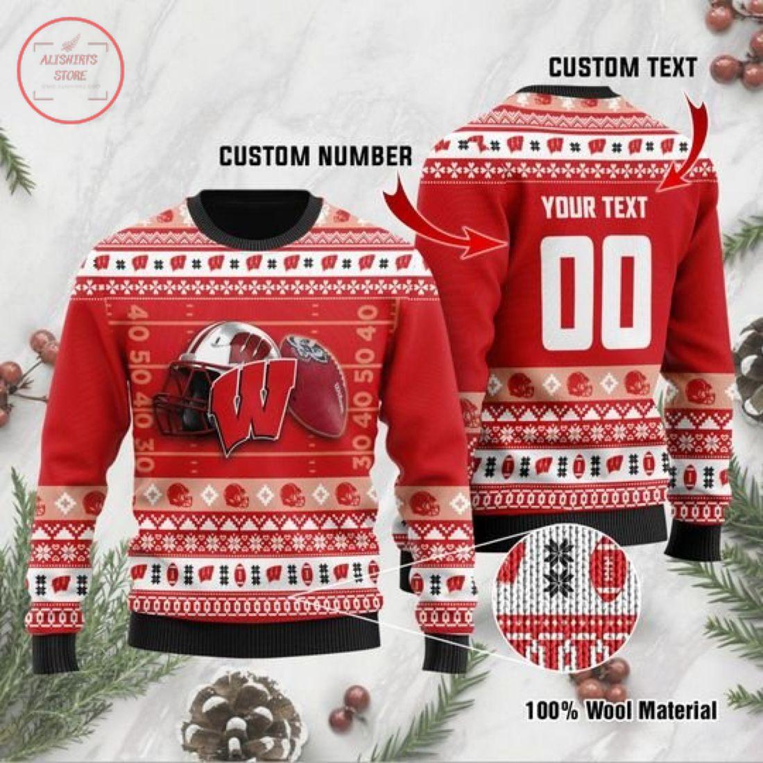 Wisconsin Badgers Custom Ugly Christmas Sweater