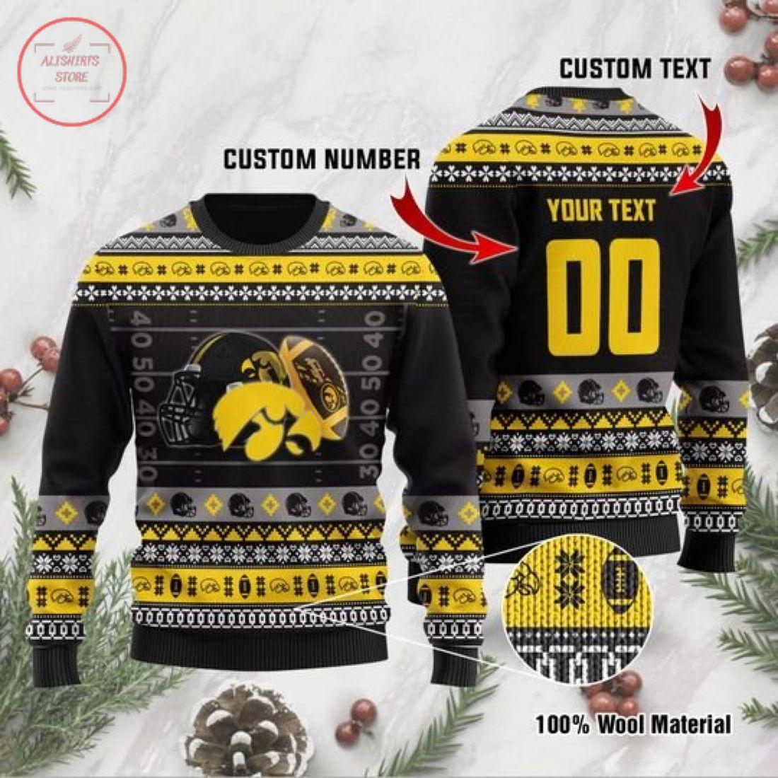 NCCA IOWA Hawkeyes Custom Ugly Christmas Sweater
