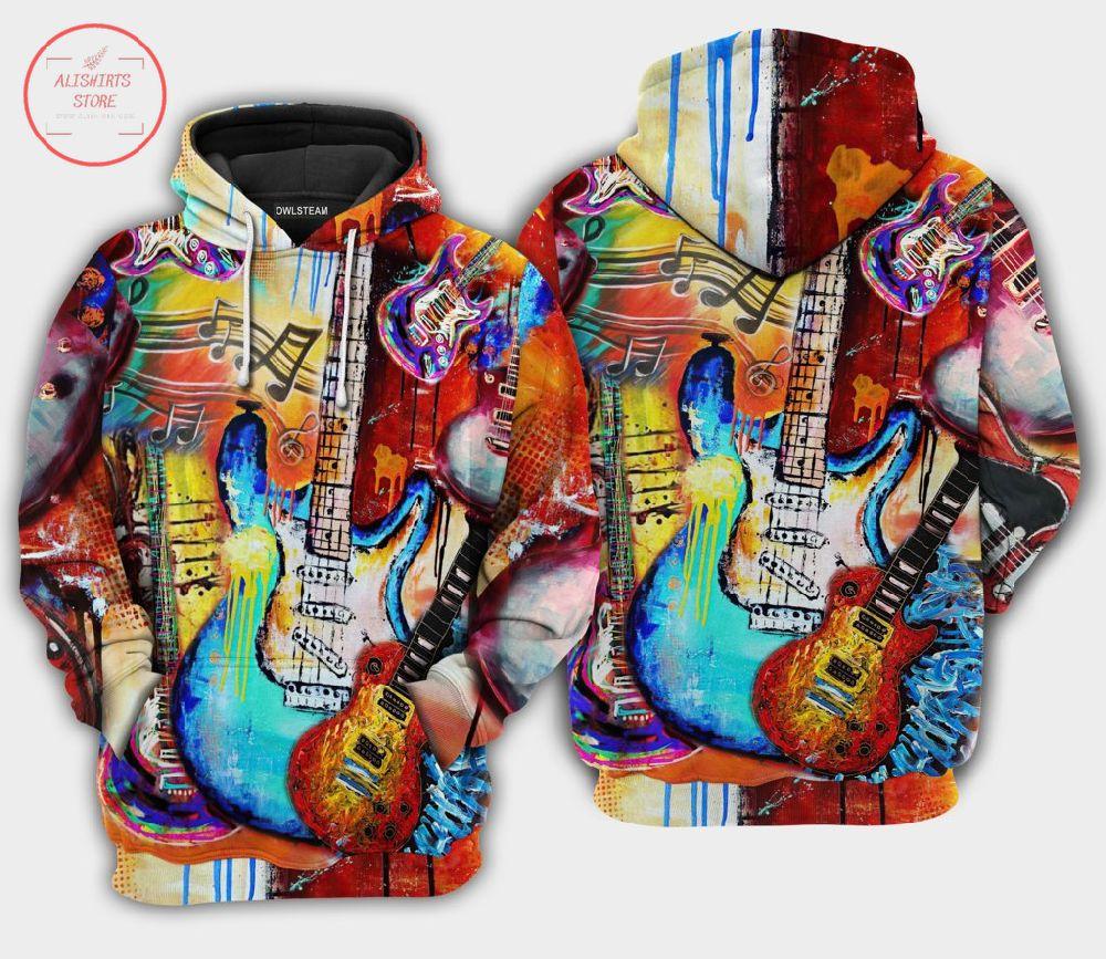Music Guitar Paint 3D Hoodie