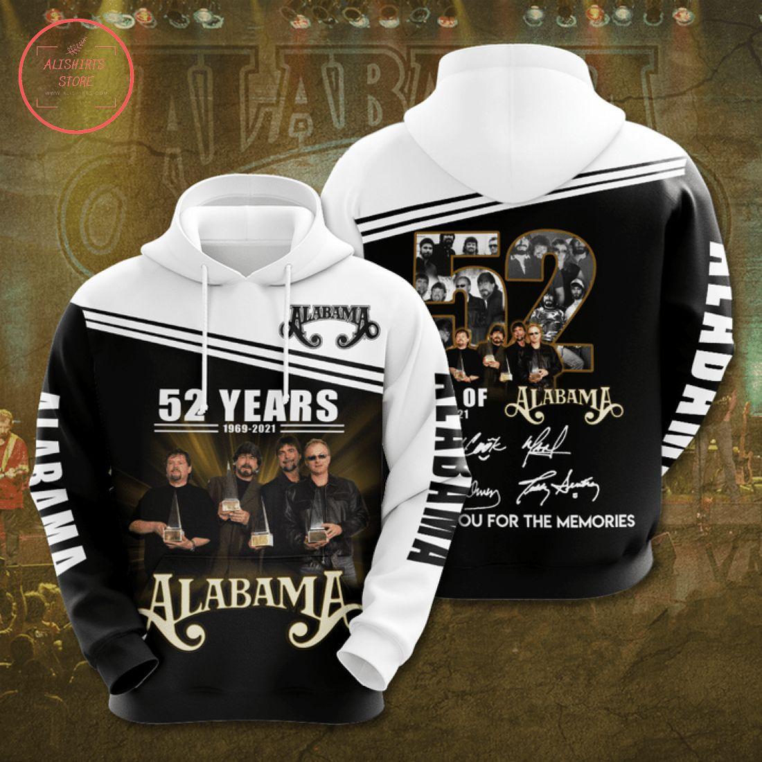 Alabama Crimson Tide 52 years 1969 2021 Hoodie 3d