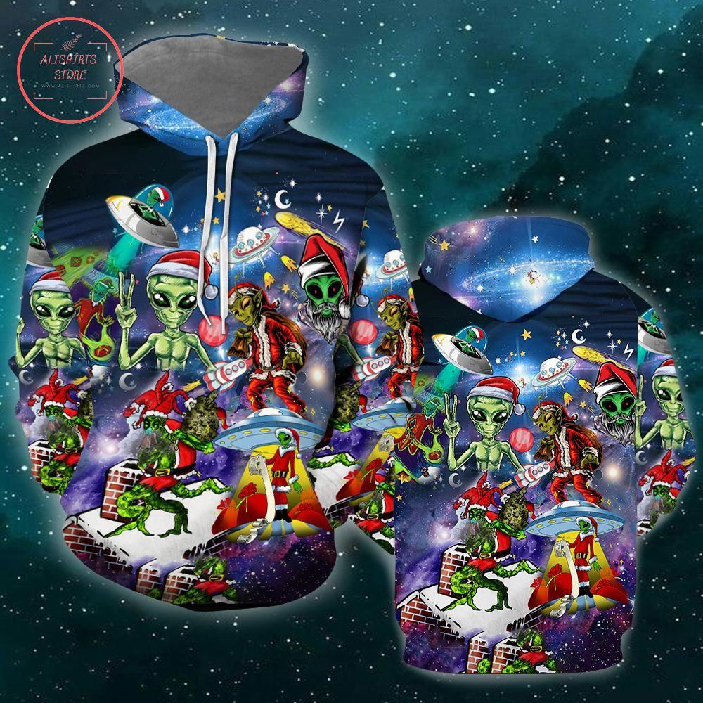 Alien Santas Christmas 3D Hoodie