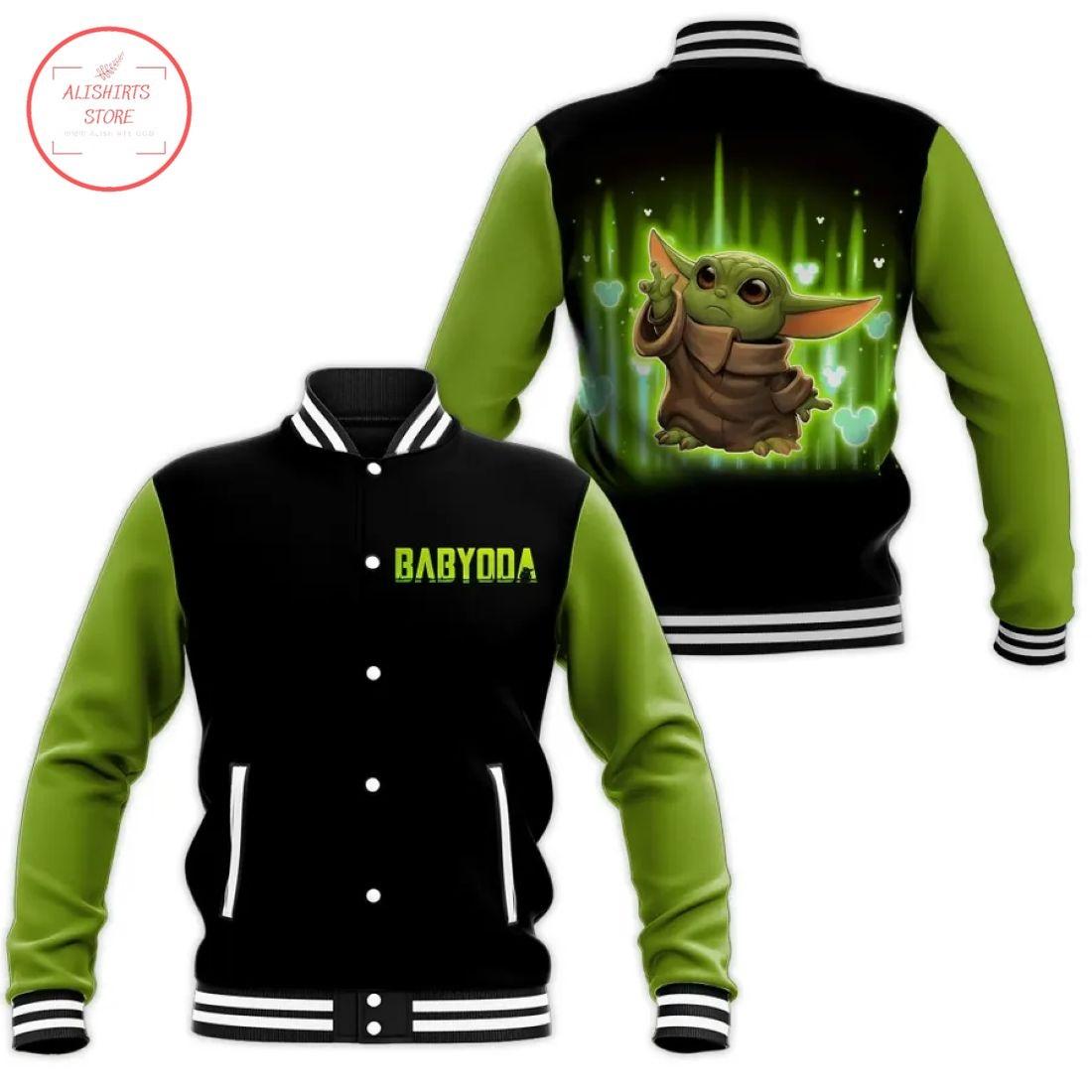 Baby Yoda Disney Letterman Jacket