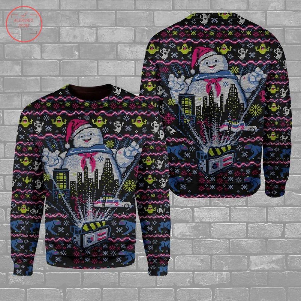 Big Ghost Ugly Christmas Sweater
