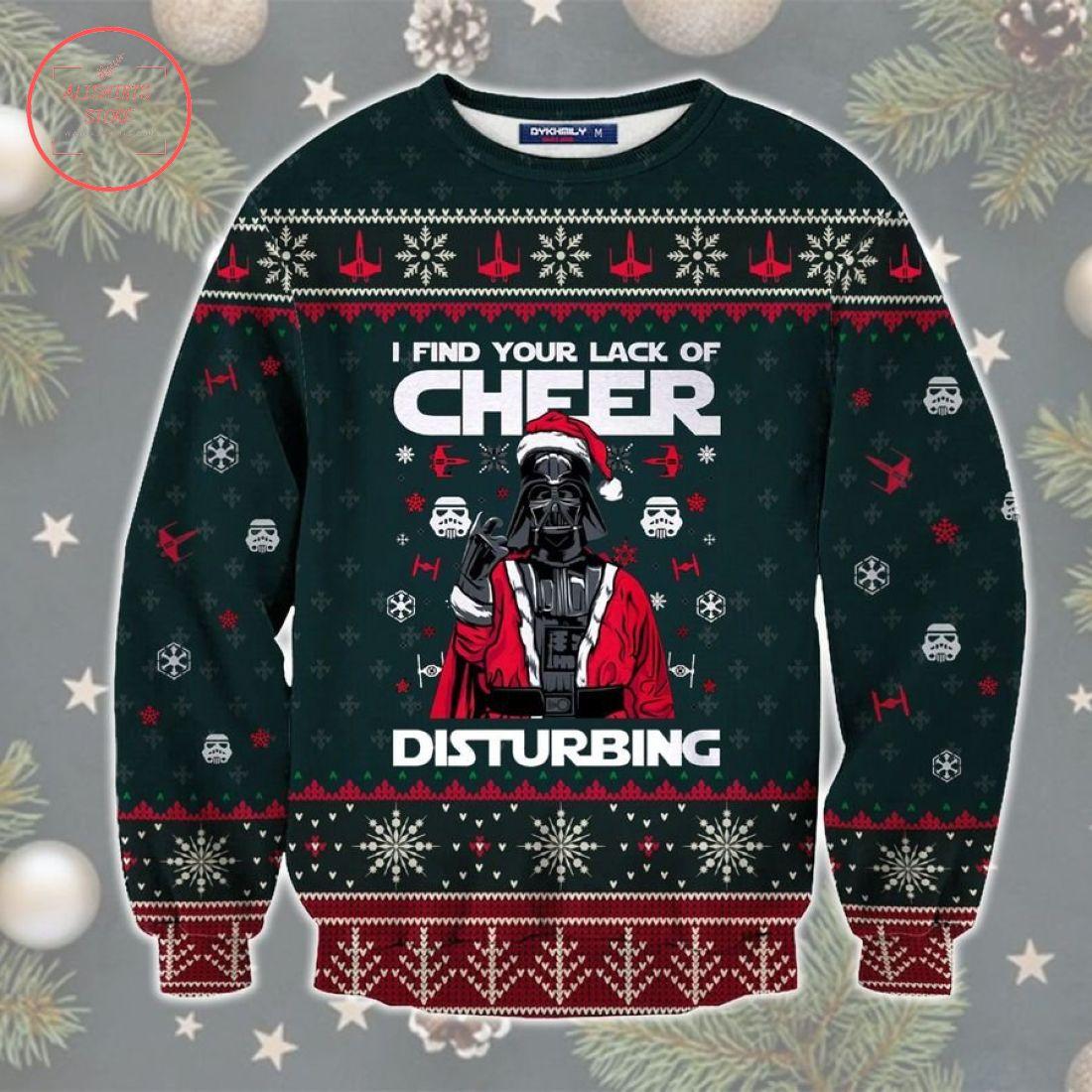 Cheer Disturbing Star Wars Ugly Christmas Sweater